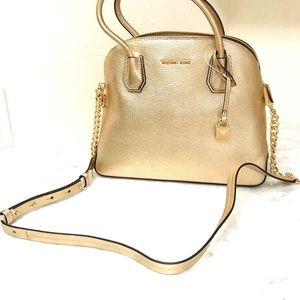 NWT MICHAEL KORS Gold Handbag